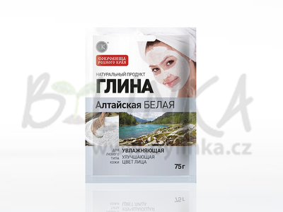 Kosmetický jíl – Altajský bílý jíl – Hydratační  75g