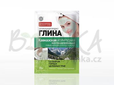 Kosmetický jíl – Kavkazský smaragdový jíl – Obnovující  75g