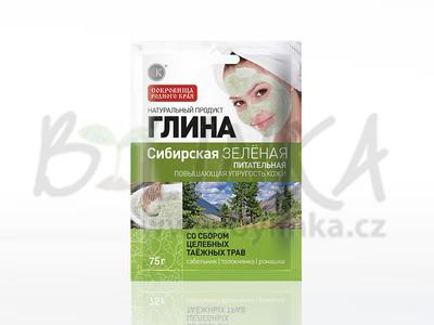 Kosmetický jíl – Sibiřský zelený jíl – Výživný  75g