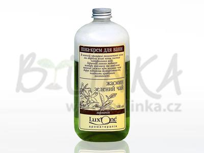 LuxOne – dvoufázová krémová pěna do koupele – Harmonie (jasmín a zelený čaj)  500ml