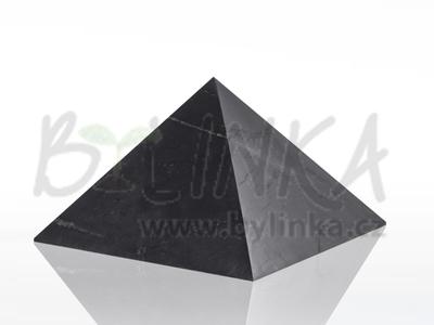 Šungitová pyramida hlazená 10×10 cm