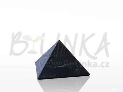 Šungitová pyramida hlazená 3×3 cm
