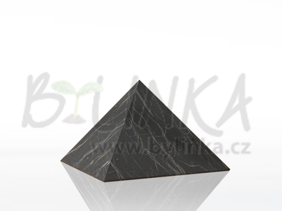 Šungitová pyramida hlazená 4×4 cm