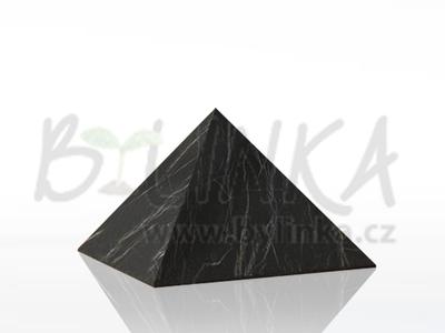 Šungitová pyramida hlazená 5×5 cm