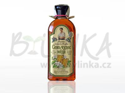 Agafea – Přírodní medový šampón s včelím voskem a mydlicí lékařskou pro větší objem a lesk 350ml