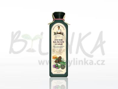 Agafea – balzám 17 sibiřských bylin – Hustý na zpevnění a růst vlasů 350ml
