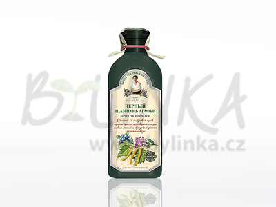 Agafea – šampón 17 sibiřských bylin – Černý proti lupům  350ml