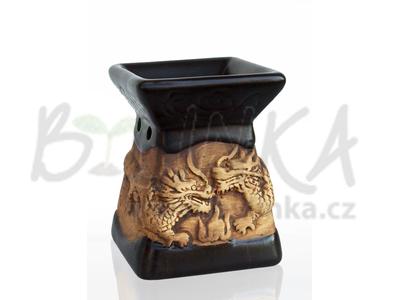 Aromalampa – Basreliéf Draci, černá
