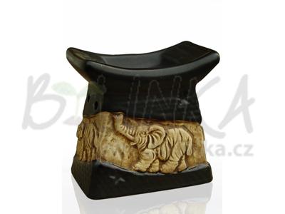 Aromalampa – Basreliéf Slon, černá