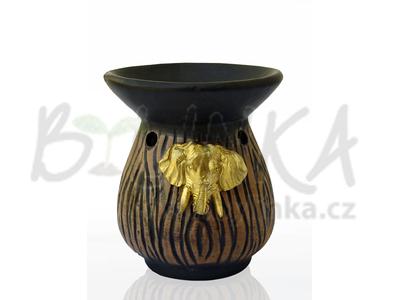 Aromalampa – Džbán s basreliéfem slona