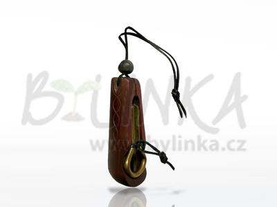 Malý Kabaj – Drumla (Brumle, Jew's harp, Maultrommel) v obalu z altajského cedru  9,5cm