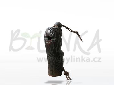Šaman – Drumla (Brumle, Jew's harp, Maultrommel, Komus) v obalu z altajského cedru  9,5cm