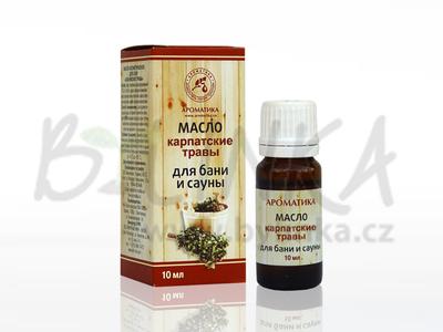 Aroma kompozice éterických olejů do sauny – Bylinky z Karpat  10ml