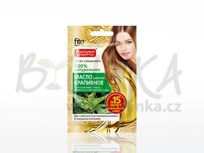 Kopřivový olej na vlasy s extrakty lopuchu, heřmánku a sibiřského cedru  20ml