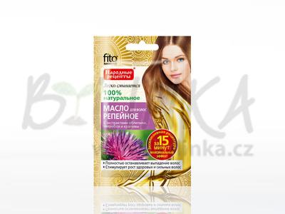 Lopuchový olej na vlasy s extraktem rakytníku, třezalky a kopřivy  20ml