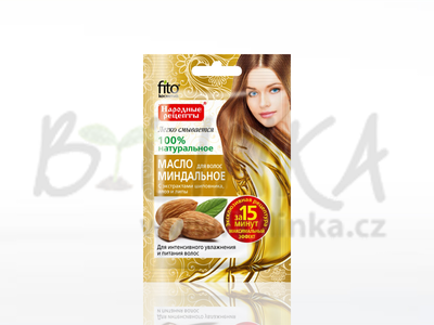 Mandlový olej na vlasy s extrakty šípku, aloe a lípy  20ml