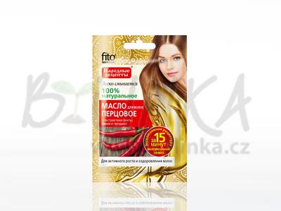 Olej z červené papriky na vlasy s extrakty jedle, chmelu a hřebíčku  20ml