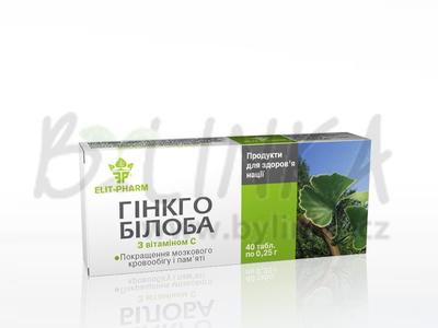 GINKGO BILOBA s vitamínem C 40tbl.