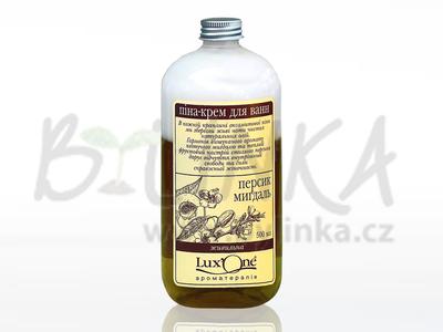 LuxOne – dvoufázová krémová pěna do koupele – Výživná (broskev a mandle)  500ml