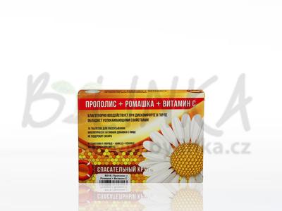 Propolis + Heřmánek + Vitamin C  15 cucacích tablet