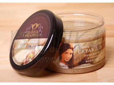 ŘECKO – 100% přírodní tělový peeling – s olejem z řeckých fíků a pistáciovou drtí   450ml