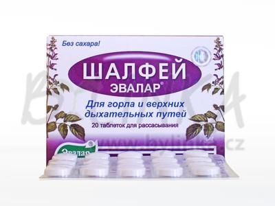 Šalvěj – cucací tablety 20tbl.