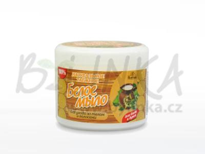 TAJGA – Bílé mýdlo, s extrakty lipového květu a bavlníkového a lněného oleje  450g