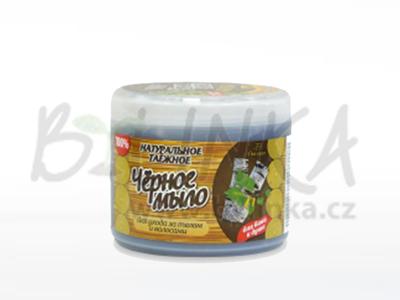 TAJGA – Černé mýdlo s březovým dehtem a extrakty chmele, vlaštovičníku, lopuchu  450g