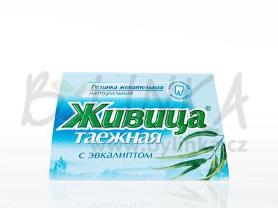 Sibiřská žvýkací pryskyřice s eukalyptem