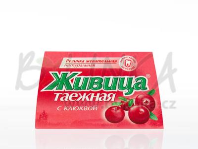 Sibiřská žvýkací pryskyřice s klikvou