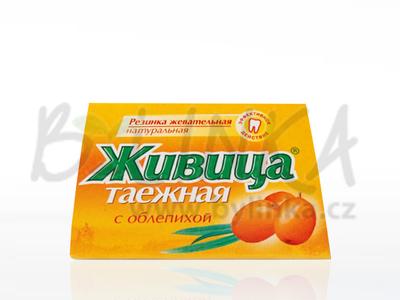 Sibiřská žvýkací pryskyřice s rakytníkem