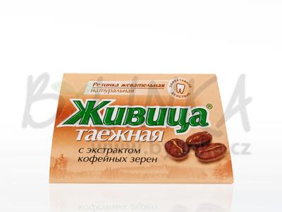 Sibiřská žvýkací pryskyřice s kávou