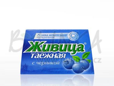 Sibiřská žvýkací pryskyřice s borůvkou